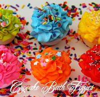 2 Mini Cupcake Bath Fizzies